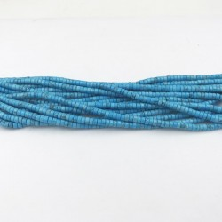 Rondelles ''Heishi'' Turquoise De Chine 4x2mm