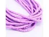 Rondelles ''Heishi'' Violet Hot 4mm
