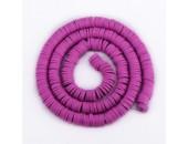 Rondelles ''Heishi'' Violet Hot 6mm