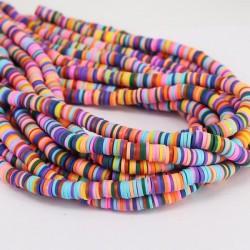 Rondelles ''Heishi'' Multicolor 1 4mm