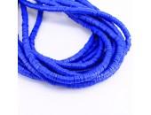 Rondelles ''Heishi'' Bleu 6mm