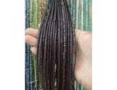 Rondelle ''Heishi'' Pierre Obsidienne Mahagony 4x2mm