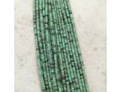 Rondelle ''Heishi'' Pierre Turquoise De Chine 4x2mm