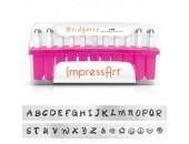 33 Poincons Bridgette Majuscules 3.0mm Acier ''ImpressArt''