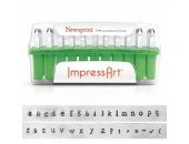 33 Poincons Newsprint Minuscules 3.0mm Acier ''ImpressArt''