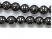 Perles en pierres hematite 2mm - Fil de 40 Centimetres