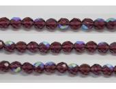 60 perles verre facettes amethyste A/B 4mm