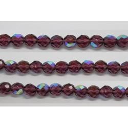 30 perles verre facettes amethyste A/B 14mm