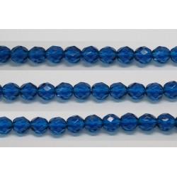 60 perles verre facettes aigue capri 4mm