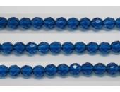 30 perles verre facettes aigue capri 6mm