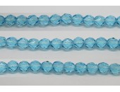 30 perles verre facettes aigue marine 8mm