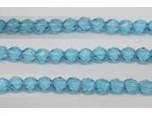 30 perles verre facettes aigue marine 12mm