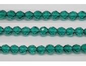 60 perles verre facettes aigue zircon 5mm