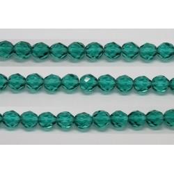 30 perles verre facettes aigue zircon 12mm