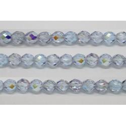 30 perles verre facettes alexandrite A/B 8mm