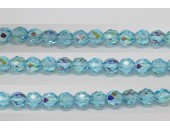 30 perles verre facettes aigue-marine A/B 12mm