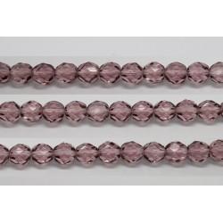 60 perles verre facettes amethyste claire 4mm