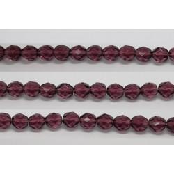 60 perles verre facettes amethyste 3mm