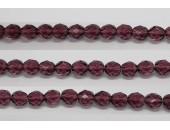 30 perles verre facettes amethyste 6mm