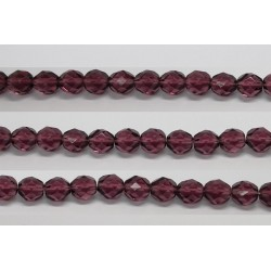 30 perles verre facettes amethyste 14mm