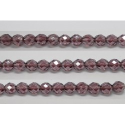 30 perles verre facettes amethyste lustre 8mm