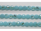30 perles verre facettes aigue opale A/B 8mm