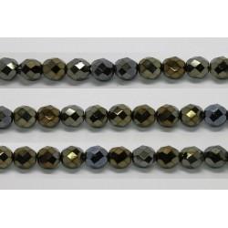 30 perles verre facettes bronze irise 6mm