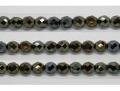 30 perles verre facettes bronze irise 12mm