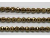 60 perles verre facettes noir bronze 3mm