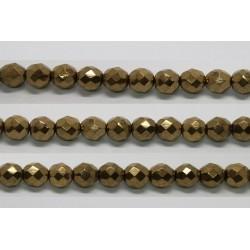 60 perles verre facettes noir bronze 5mm