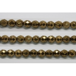 30 perles verre facettes noir bronze 8mm
