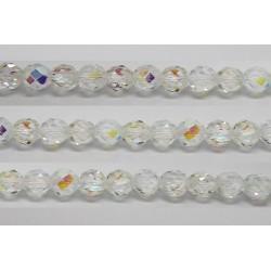 30 perles verre facettes cristal A/B 6mm