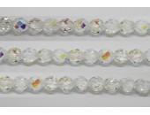 30 perles verre facettes cristal A/B 10mm