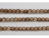 60 perles verre facettes brun 3mm