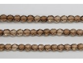 60 perles verre facettes brun 5mm