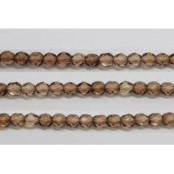 30 perles verre facettes brun 6mm