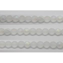 30 perles verre facettes marron 6mm