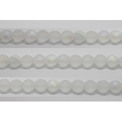 30 perles verre facettes marron 8mm