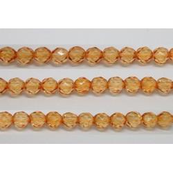 60 perles verre facettes orange clair 5mm
