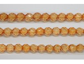 30 perles verre facettes orange clair 6mm