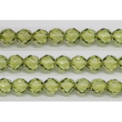 30 perles verre facettes olivine 6mm