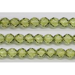 30 perles verre facettes olivine 8mm
