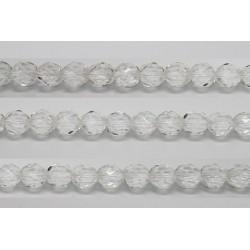 30 perles verre facettes cristal 8mm