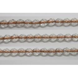 60 perles verre facettes cristal trou cuivre 5mm