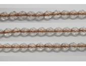 30 perles verre facettes cristal trou cuivre 8mm