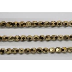 30 perles verre facettes dore 10mm