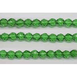 30 perles verre facettes emeraude 6mm