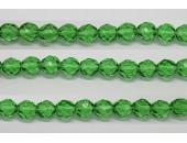 30 perles verre facettes emeraude 8mm