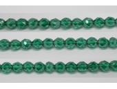 60 perles verre facettes emeraude lustre 4mm