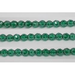 60 perles verre facettes emeraude lustre 5mm